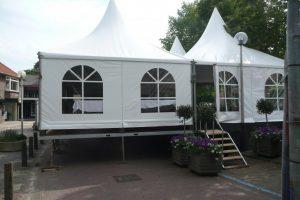 Pagode tent 5x5 meter huren in Twente
